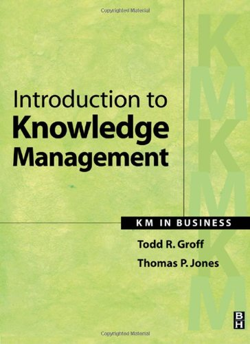 Introduction to Knowledge Management KM in Business  2003 edition cover