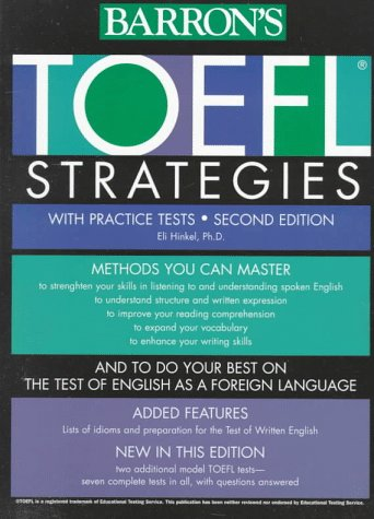 TOEFL Strategies with Practice Tests  2nd 1998 9780764102288 Front Cover
