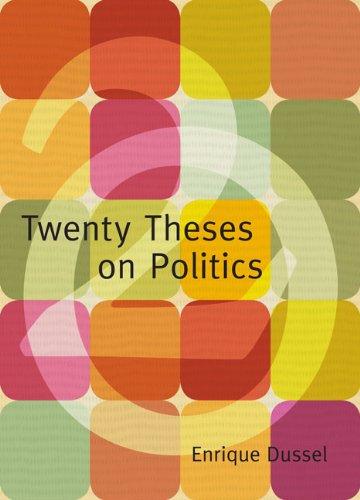 Twenty Theses on Politics   2008 edition cover