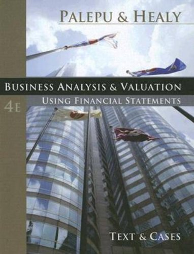 Business Analysis and Valuation  5th 2013 edition cover