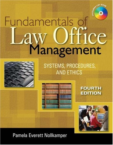 Fundamentals of Law Office Management  4th 2009 edition cover