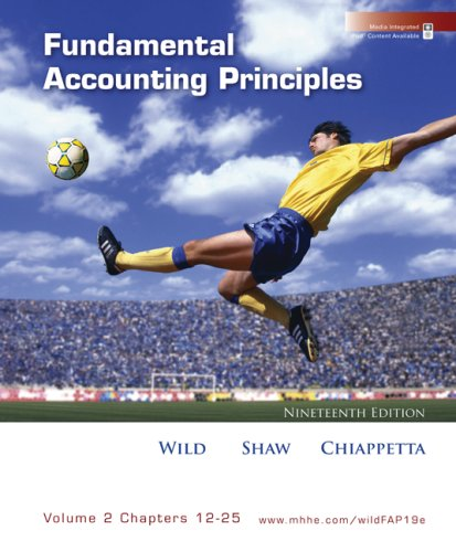 Fundamental Accounting Principles, Vol 2 (Chapters 12-25)  19th 2009 edition cover