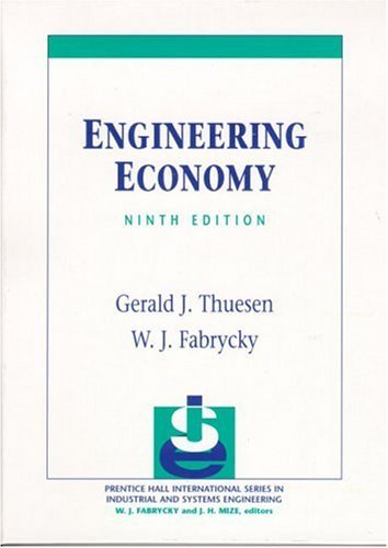 Engineering Economy  9th 2001 edition cover