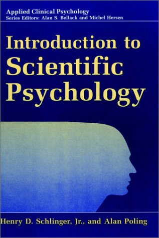 Introduction to Scientific Psychology   1998 edition cover