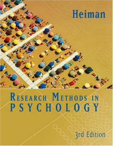 Research Methods in Psychology  3rd 2002 edition cover