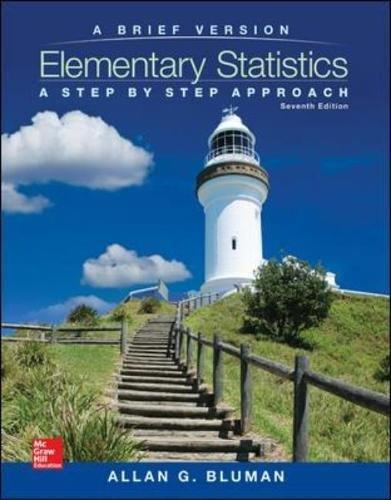 Elementary Statistics: a Brief Version with Formula Card  7th 2016 9781259345289 Front Cover