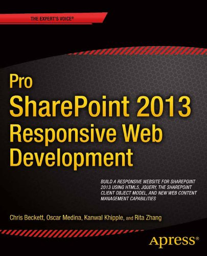 Pro SharePoint 2013 Branding and Responsive Web Development   2013 9781430250289 Front Cover