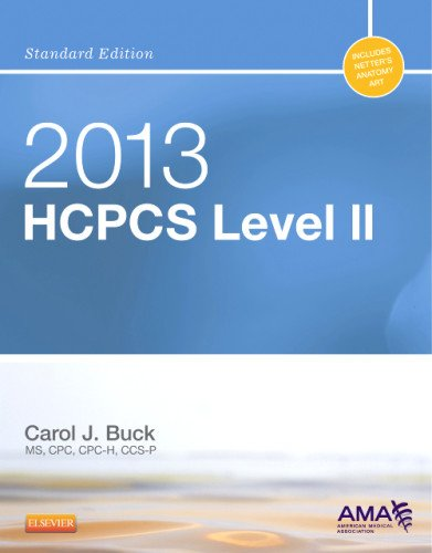 2013 HCPCS Level II Standard Edition:   2012 edition cover