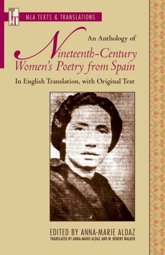 Anthology of Nineteenth-Century Women's Poetry from Spain In English Translation, with Spanish Text  2008 edition cover