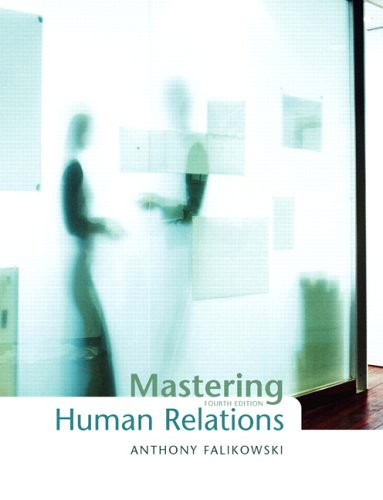 MASTERING HUMAN RELATIONS >CAN 4th 2006 edition cover