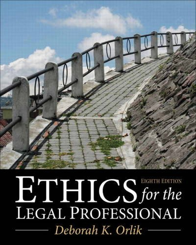 Ethics for the Legal Professional  8th 2014 edition cover