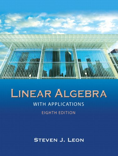 Linear Algebra with Applications  8th 2010 edition cover