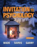 Invitation to Psychology:   2014 9780205990290 Front Cover