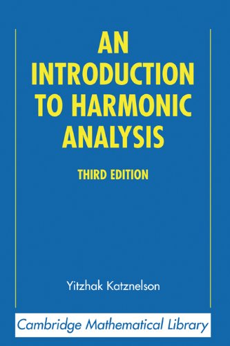 Introduction to Harmonic Analysis  3rd 2004 (Revised) 9780521838290 Front Cover