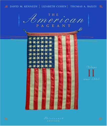 American Pageant Since 1865 13th 2006 edition cover