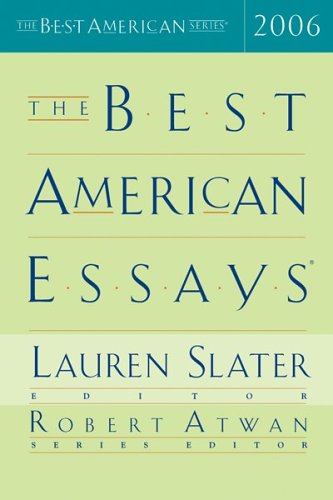 Best American Essays 2006   2006 edition cover