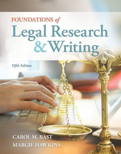 Foundations of Legal Research and Writing  5th 2013 edition cover