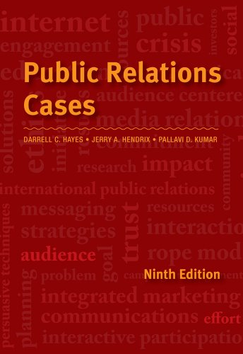 Public Relations Cases  9th 2013 9781133393290 Front Cover