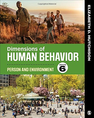 Dimensions of Human Behavior Person and Environment 6th 2019 9781544339290 Front Cover