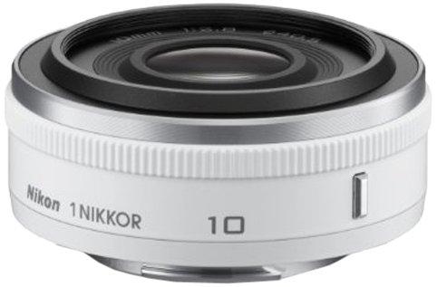 Nikon 1 NIKKOR 10mm f/2.8 Lens (White) product image