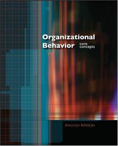 Organizational Behavior Core Concepts  2008 9780073530291 Front Cover