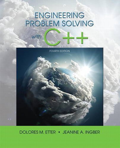 Engineering Problem Solving with C++  4th 2017 9780134444291 Front Cover