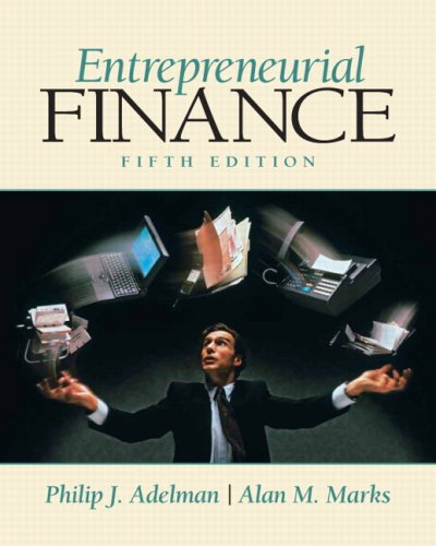 Entrepreneurial Finance  5th 2010 edition cover