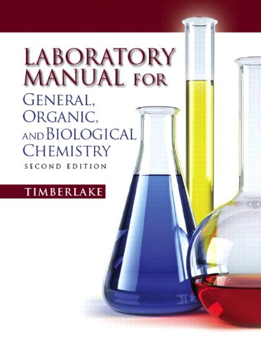 Lab Manual for General, Organic, and Biological Chemistry  2nd 2011 edition cover