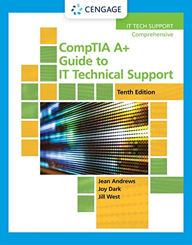 A+ Guide to IT Technical Support  10th 9780357108291 Front Cover