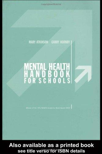 Mental Health Handbook for Schools   2002 edition cover