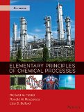 Elementary Principles of Chemical Processes  4th 2016 9780470616291 Front Cover