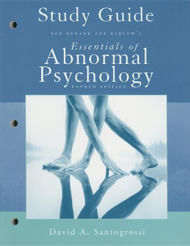 Essentials of Abnormal Psychology  4th 2006 (Guide (Pupil's)) 9780495031291 Front Cover