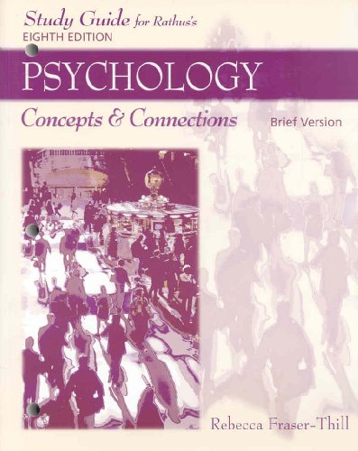 S. G. Psychology Concepts and Connections, Brief Version 8th 2007 9780495172291 Front Cover