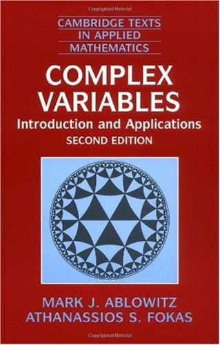 Complex Variables Introduction and Applications 2nd 2003 (Revised) edition cover
