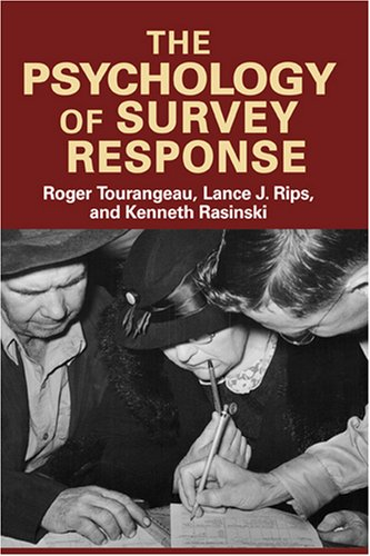 Psychology of Survey Response   2000 edition cover