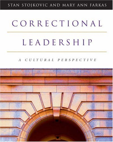 Correctional Leadership A Cultural Perspective  2003 9780534574291 Front Cover