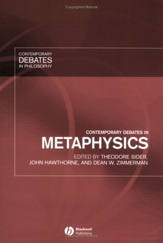 Contemporary Debates in Metaphysics   2007 edition cover