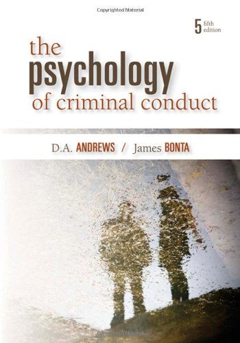 Psychology of Criminal Conduct  5th 2010 (Revised) edition cover