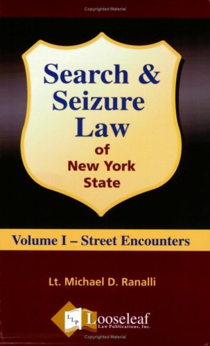 Search and Seizure Law of New York State  2006 (Revised) edition cover