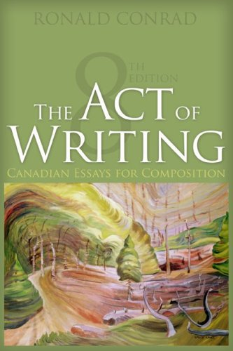 ACT OF WRITING >CANADIAN< N/A 9780070969292 Front Cover