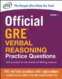 Official Gre Verbal Reasoning Practice Questions:   2014 9780071834292 Front Cover