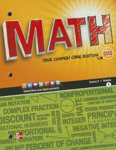 Math Course 2: Your Common Core Edition 1st 2011 9780076615292 Front Cover