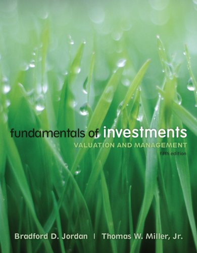 Fundamentals of Investments Valuation and Management 5th 2009 edition cover