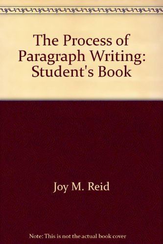 Process of Paragraph Writing N/A 9780137235292 Front Cover