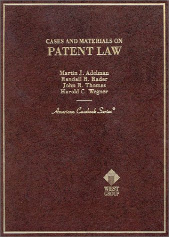 Cases and Materials on Patent Law  1998 9780314065292 Front Cover