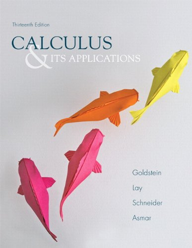 Calculus and Its Applications  13th 2014 9780321867292 Front Cover