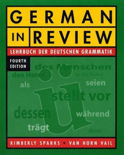 German in Review Lehrbuch der Deutschen Grammatik 4th 2004 edition cover