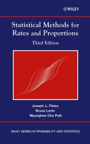 Statistical Methods for Rates and Proportions  3rd 2003 (Revised) 9780471526292 Front Cover