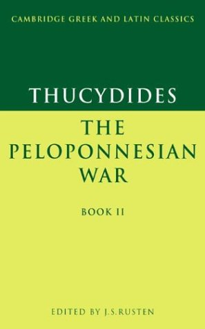 Thucydides The Peloponnesian War  1999 9780521339292 Front Cover