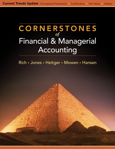 Financial and Managerial Accounting   2010 (Revised) 9780538751292 Front Cover